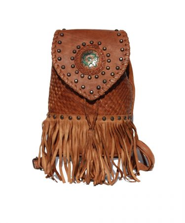 back pack with fringes